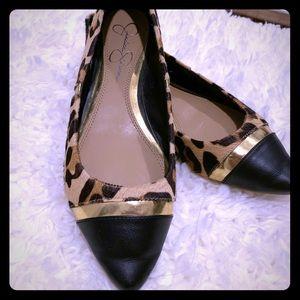 Jessica Simpson Leopard ballerina flats